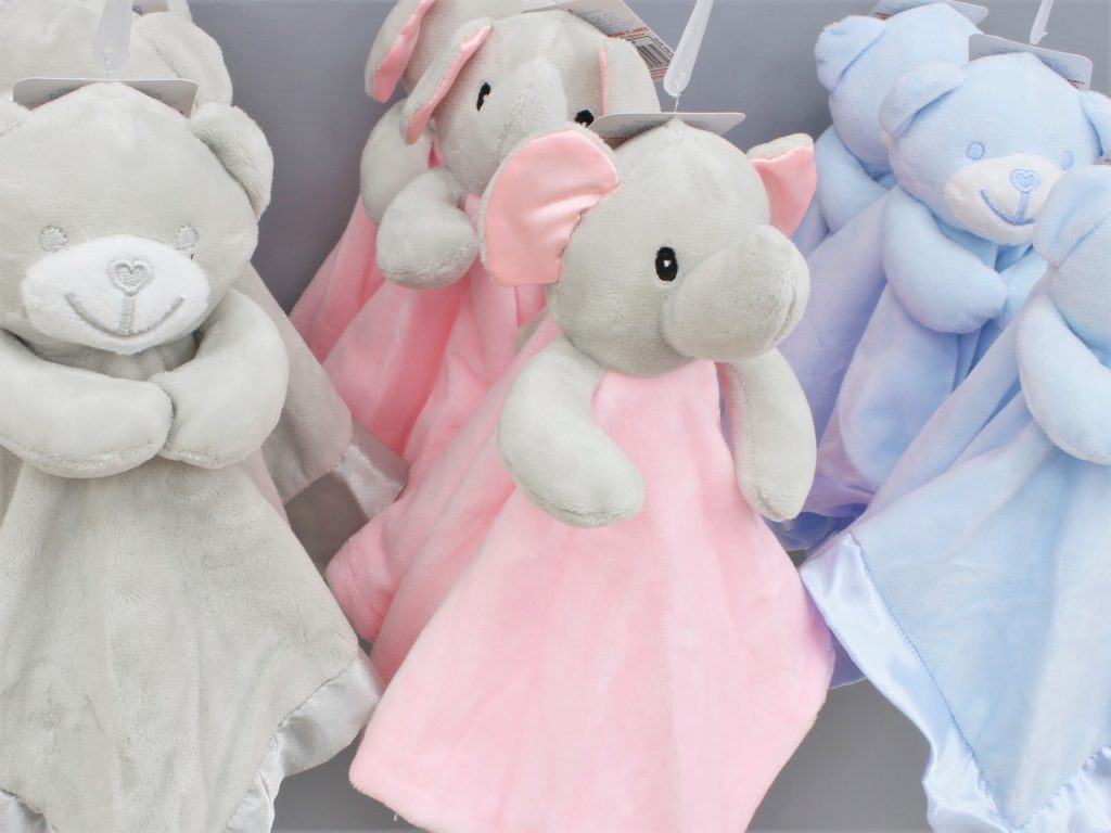 Baby comforters at Junior Jungle