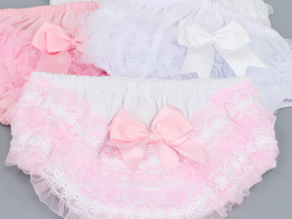Baby frilly knickers at Junior Jungle