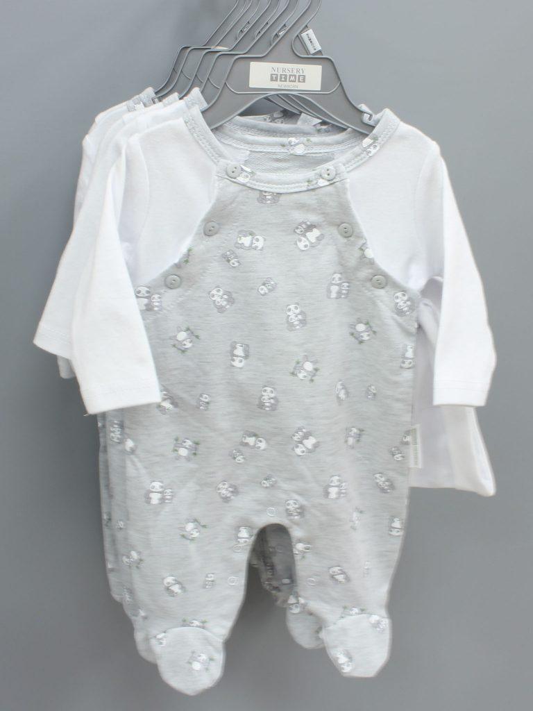 Joseph grey baby suit with hat £9.00