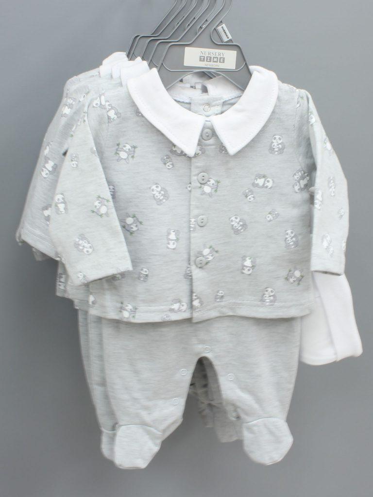 Carter grey baby suit three piece set £12.00