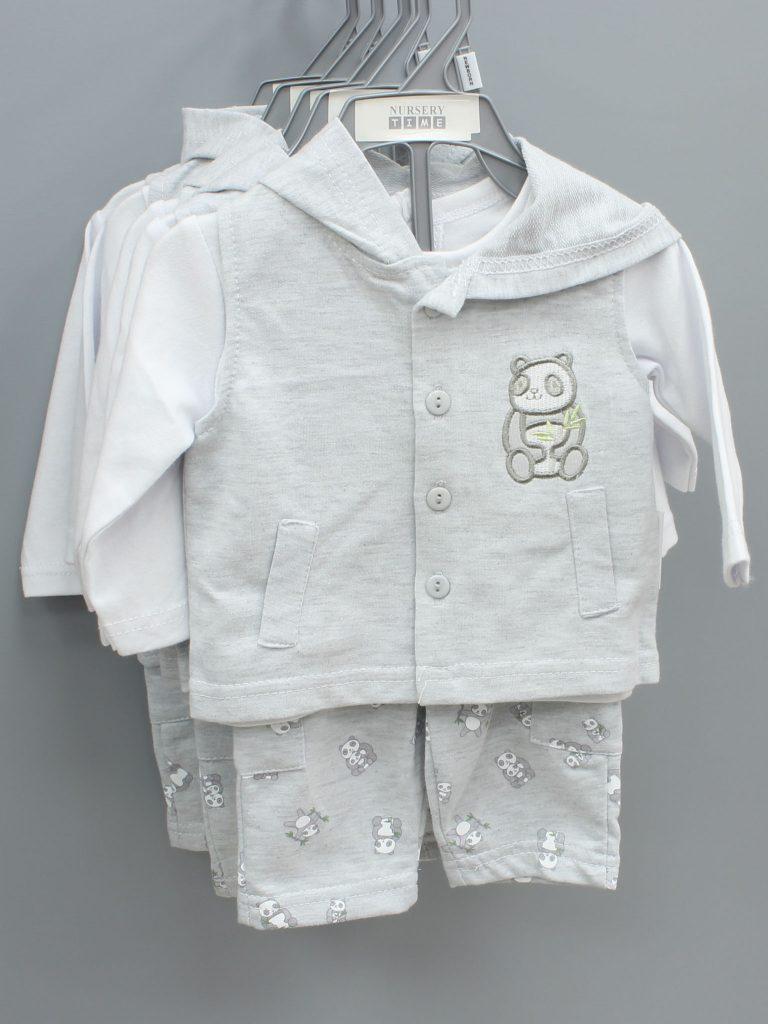 John grey baby suit three piece set £11.00