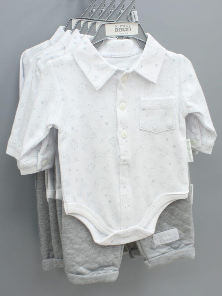Jayden grey baby suit two piece set £9.00