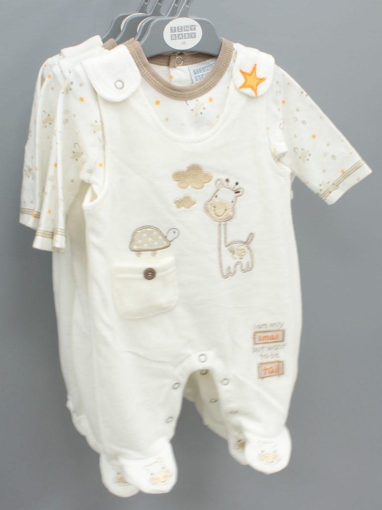 Isaac cream baby suit two piece set £10.00