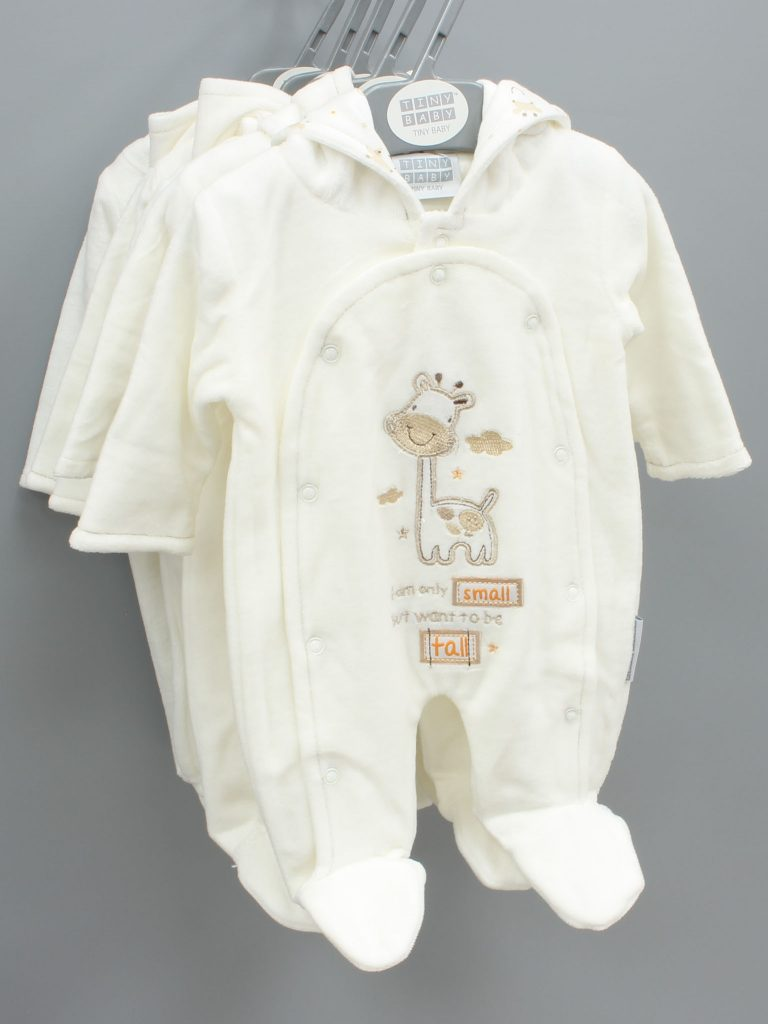 Gabriel cream baby suit with hood £13.00