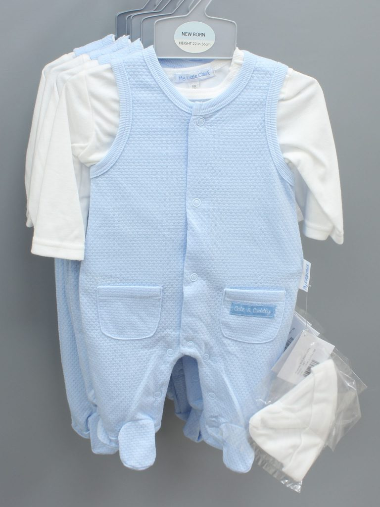 Kevin blue baby suit with hat £13.00