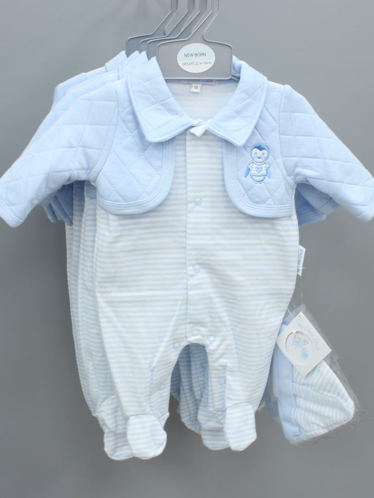 Anthony blue baby suit with hat £12.00
