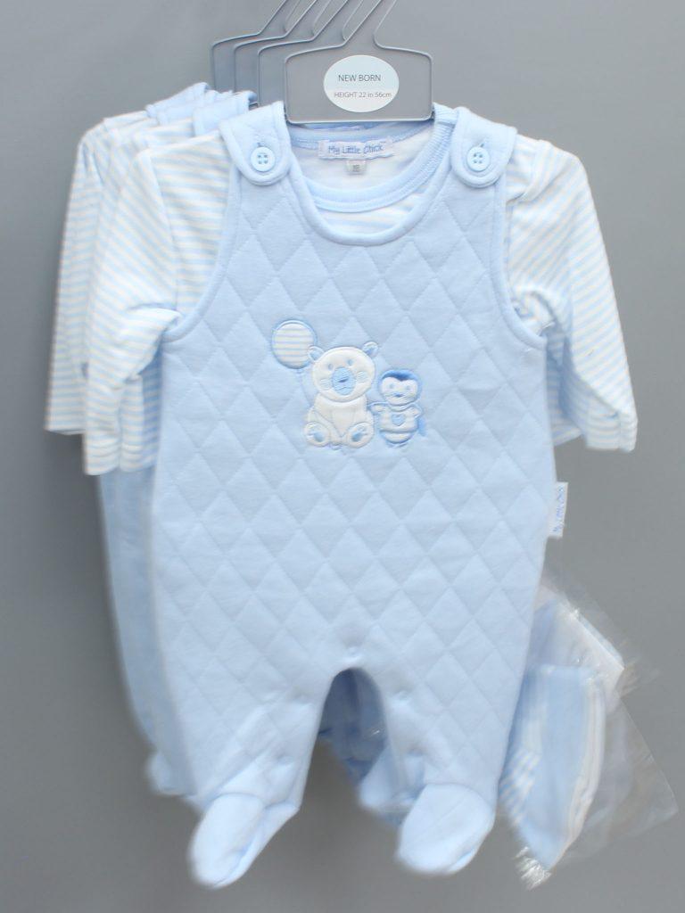 Jaxon blue baby suit with hat £15.00
