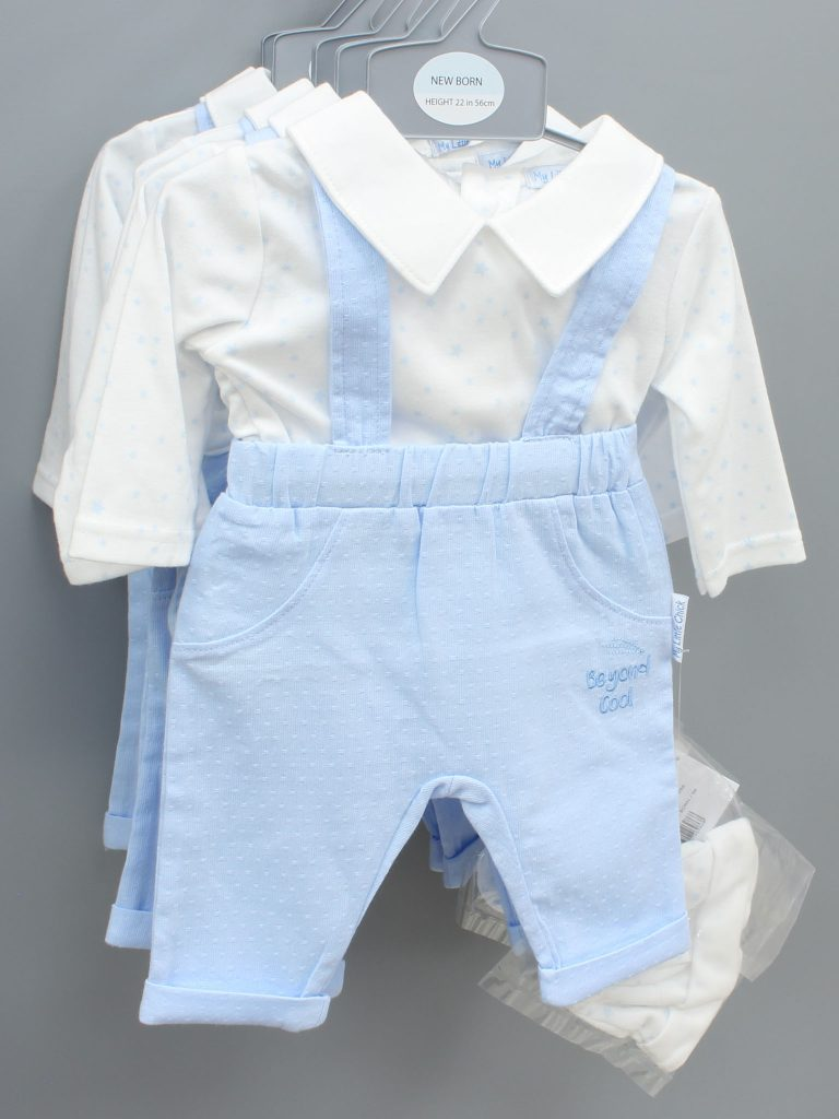 Christopher blue baby suit with hat £12.00
