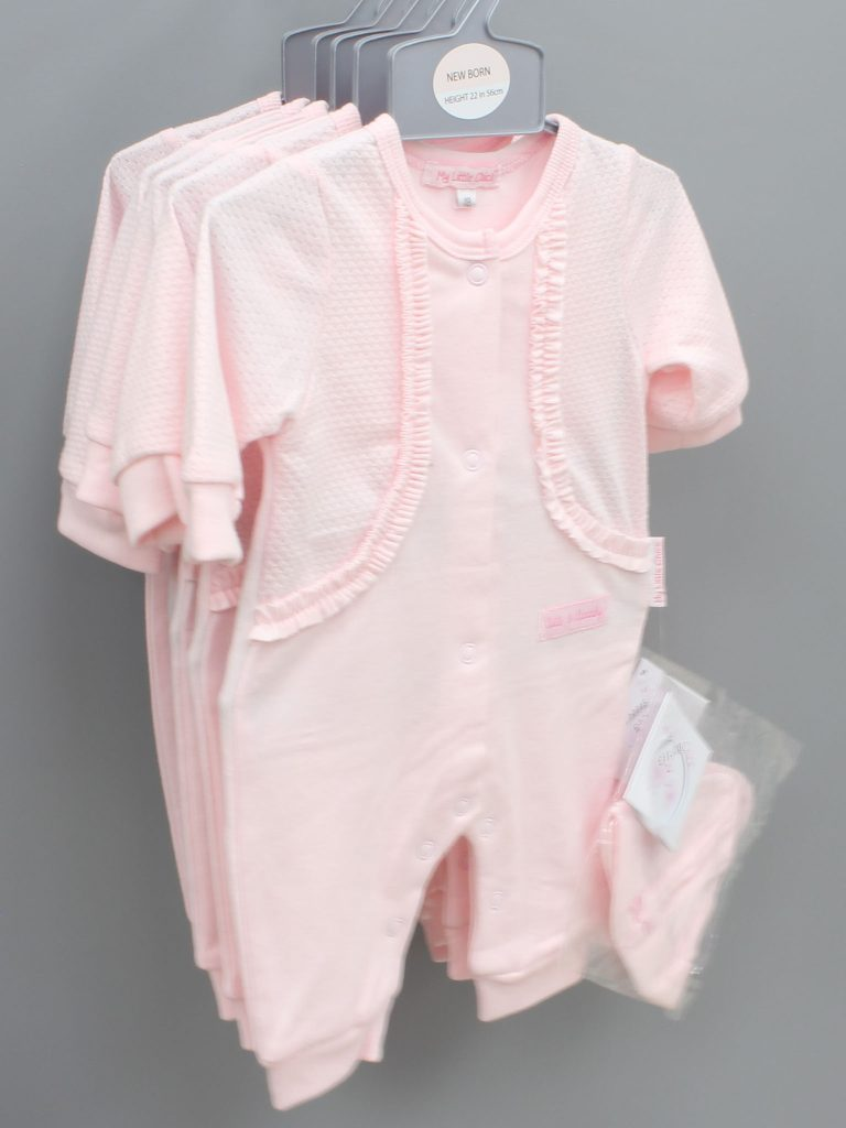 Skylar pink baby suit with hat £11.00