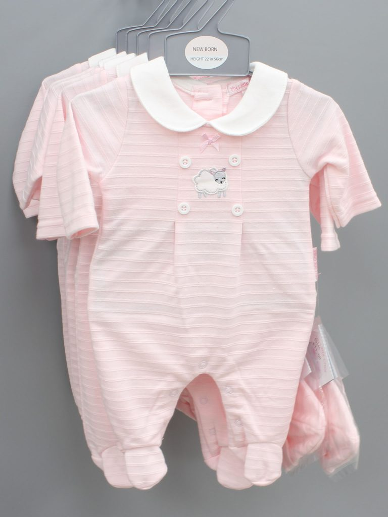 Lucy pink baby suit with hat £11.00
