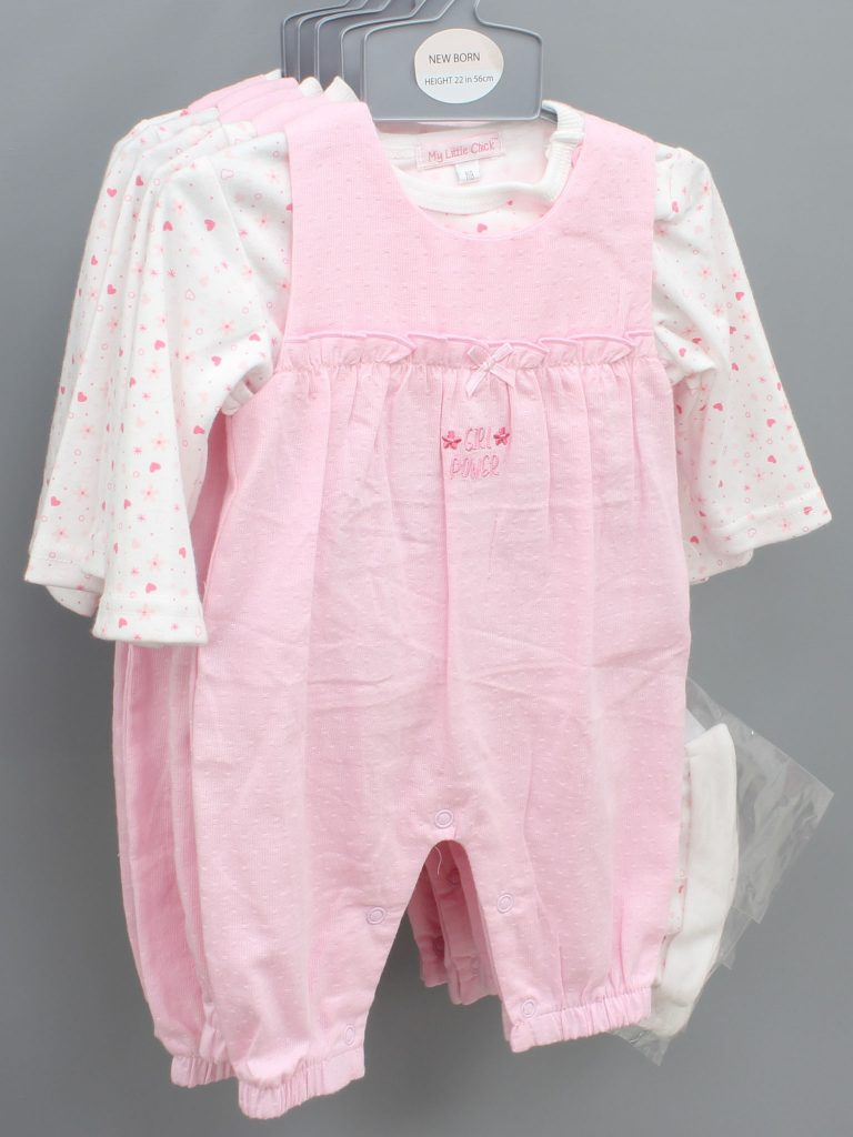 Paisley pink baby suit with hat £14.00