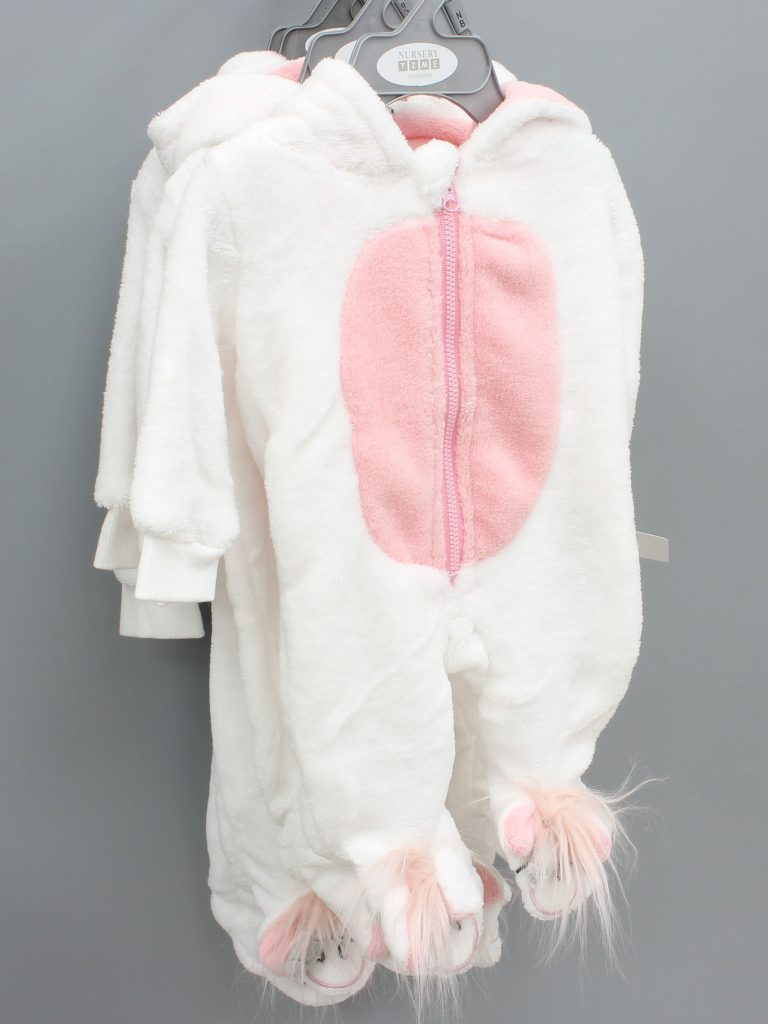 Anna pink baby suit with hood £10.00