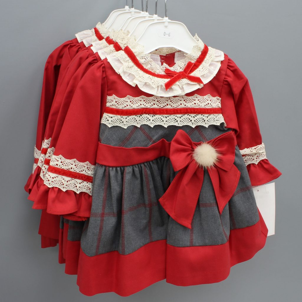 Emilia red Spanish baby dress £20.00