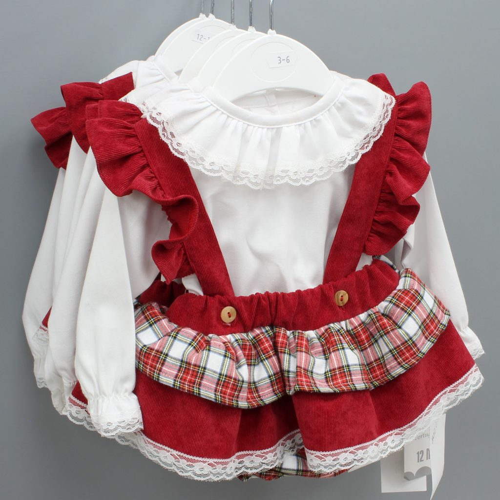 Samantha burgundy Spanish baby suit £29.00