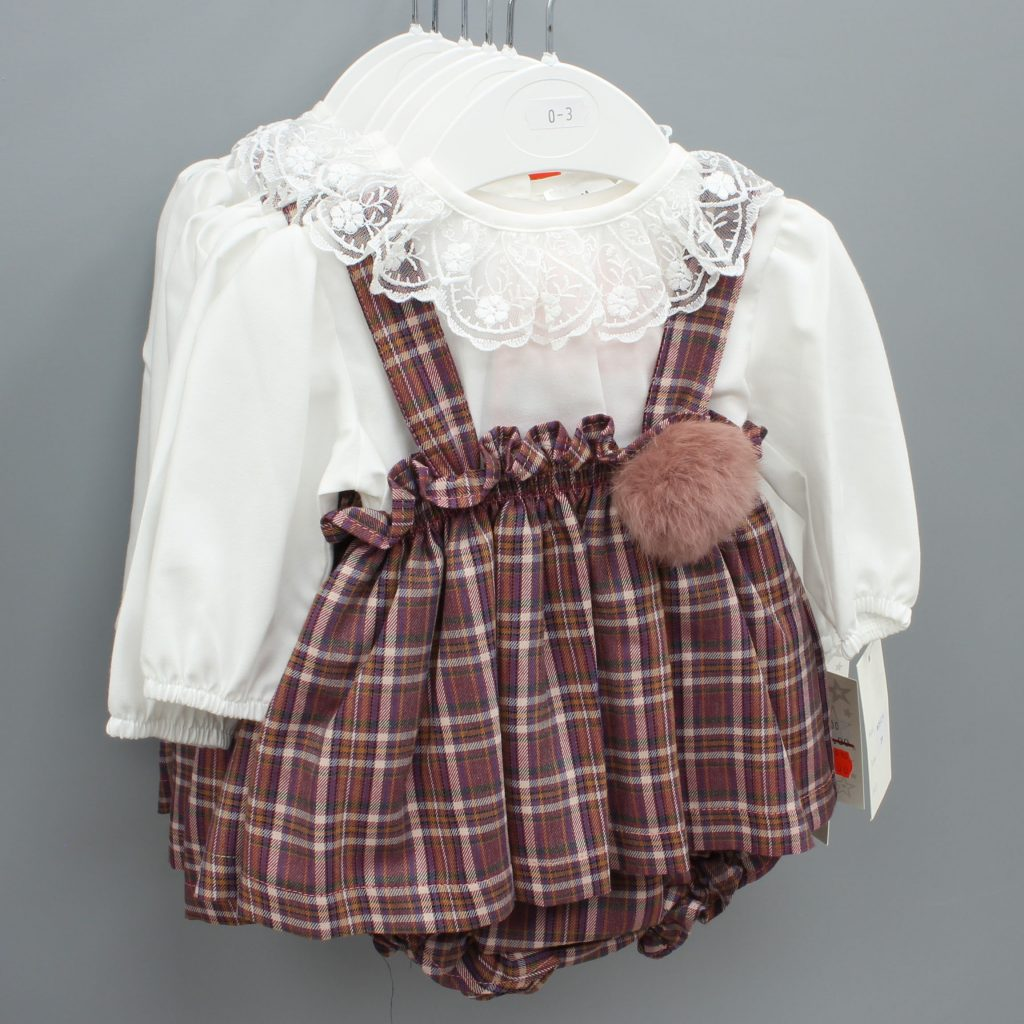 Sarah burgundy Spanish baby suit £20.00