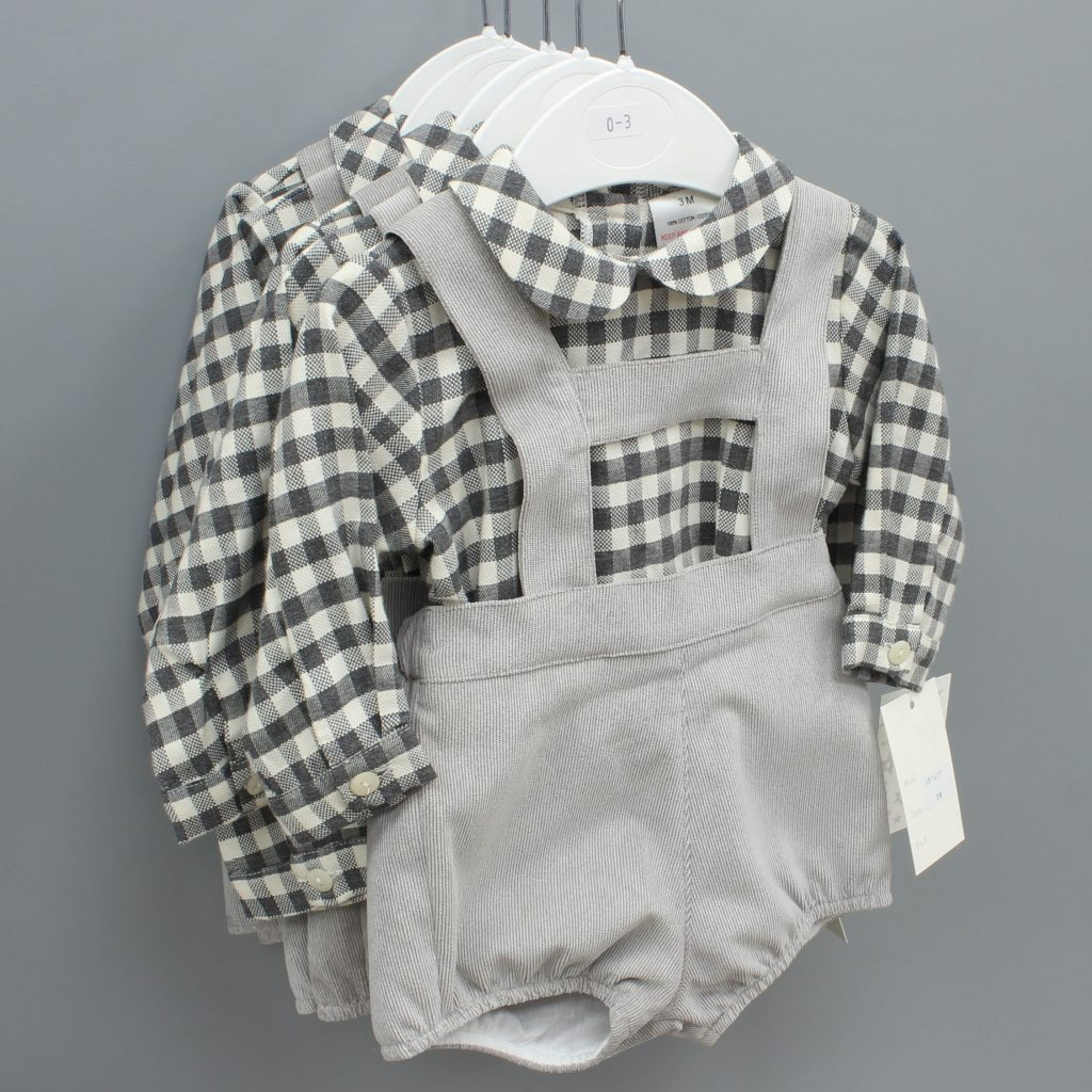 Andrew grey Spanish baby suit £27.00