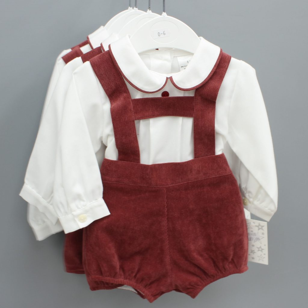 Ryan burgundy Spanish baby suit £27.00
