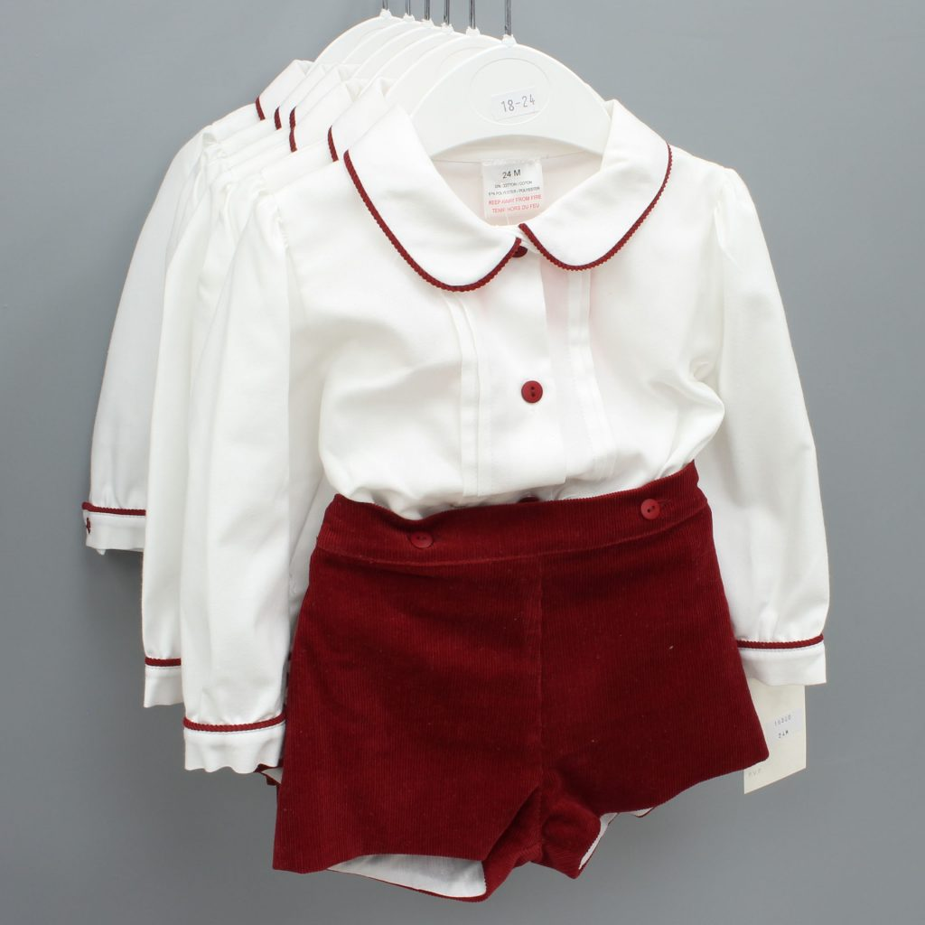 Asher burgundy Spanish baby suit £15.00