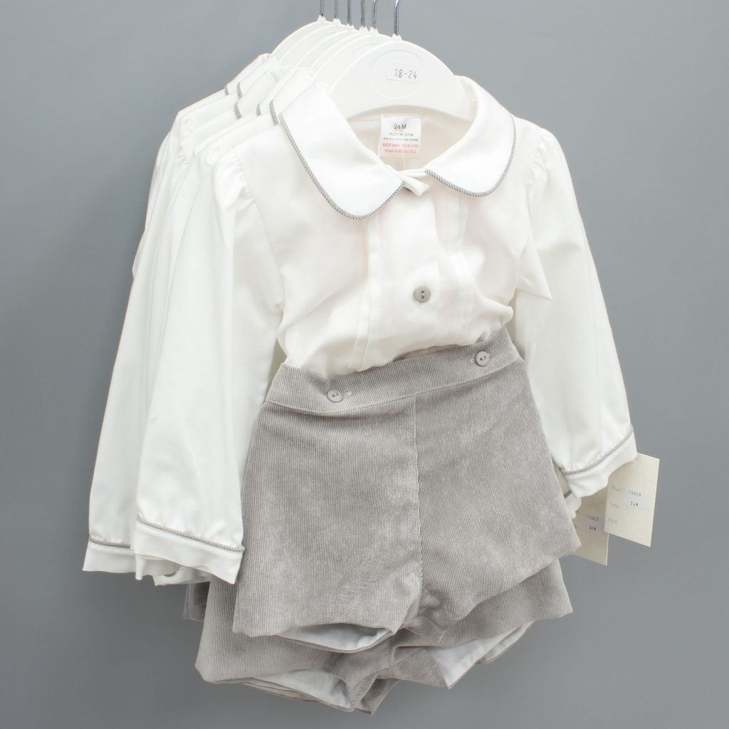 Asher grey Spanish baby suit £15.00