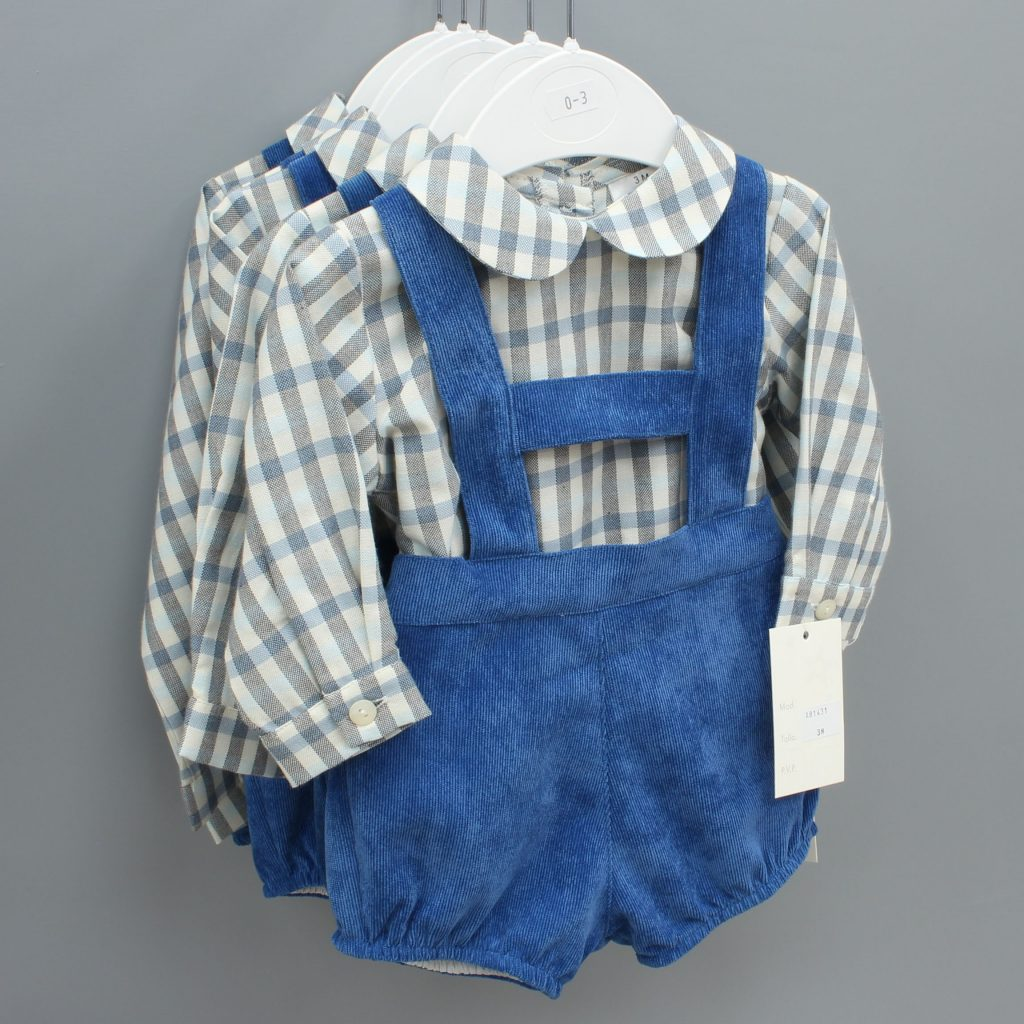 Isaiah blue Spanish baby suit £27.00