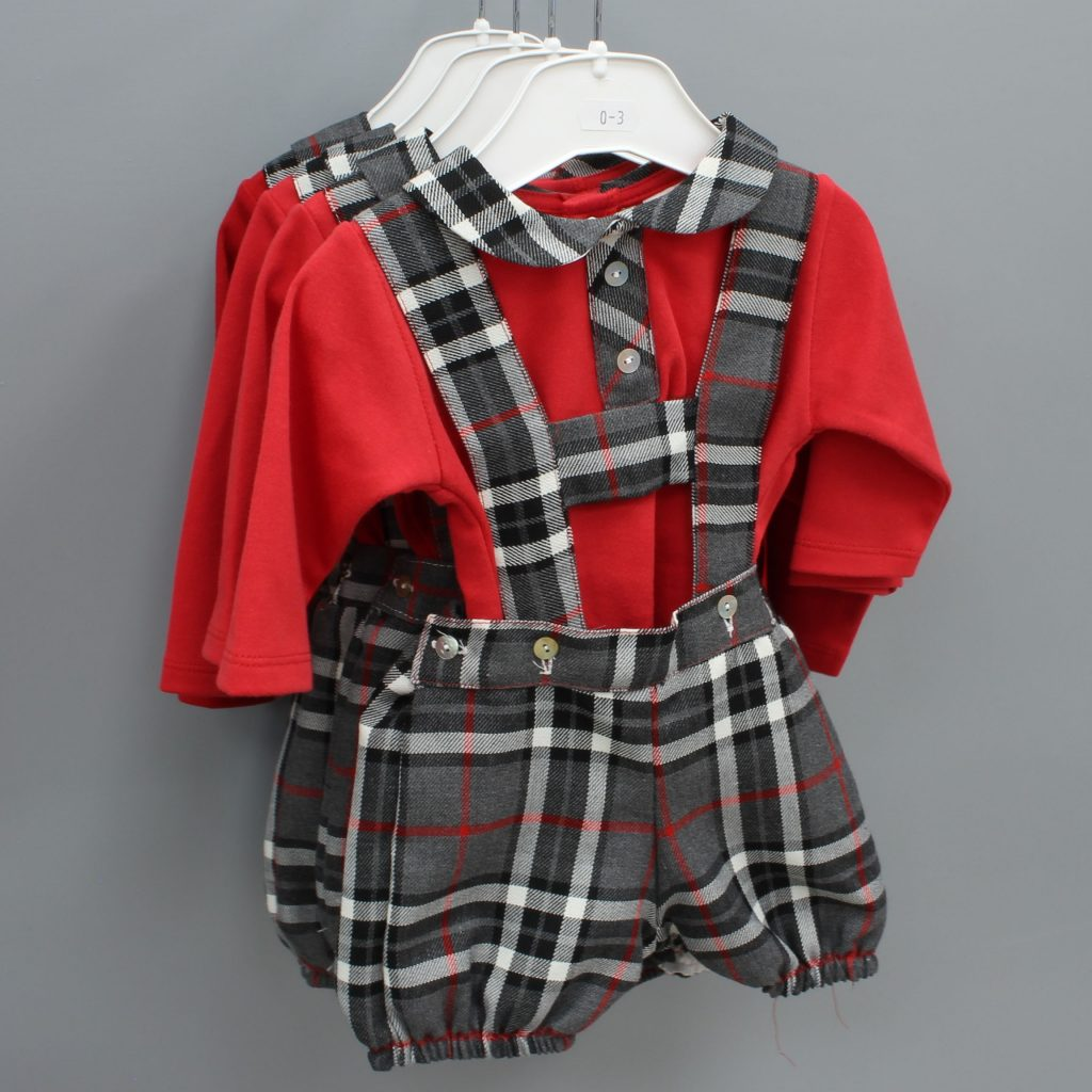 Charles red Spanish baby suit £21.00